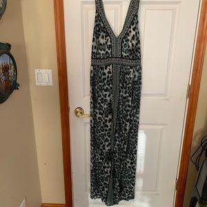 Plus size cheetah print maxi dress